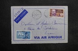 A.E.F. - Enveloppe De Port Gentil Pour La France En 1939 , Affranchissement Plaisant - L 35298 - Lettres & Documents