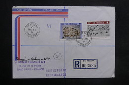 SAINTE HÉLÈNE - Enveloppe En Recommandé Pour Paris En 1981 , Affranchissement Plaisant - L 35299 - Sainte-Hélène