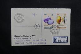 SAINTE HÉLÈNE - Enveloppe En Recommandé Pour La France En 1981 , Affranchissement Plaisant - L 35302 - Sainte-Hélène