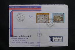 SAINTE HÉLÈNE - Enveloppe En Recommandé Pour La France En 1981 , Affranchissement Plaisant - L 35306 - Sainte-Hélène