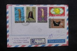 SAINTE HÉLÈNE - Enveloppe En Recommandé Pour La France En 1975 , Affranchissement Plaisant - L 35308 - Sainte-Hélène