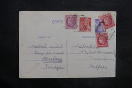 FRANCE - Entier Postal + Compléments Du Camp De Scouts De Oberlarg En 1947 - L 35324 - Postal Stamped Stationery
