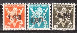 724DD/FF**  Lion Héraldique Surchargé GHISLENGHIEN - Série Complète - MNH** - COB 44.50 - Vendu à 12.50% Du COB!!!! - 1946 -10%