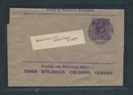 Ceylon Streifband  Alte Ganzsache  .... (oo8836   ) Siehe Scan - Ceylon (...-1947)
