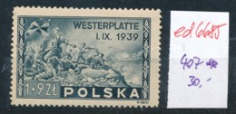 Polen Nr. 407   **  (ed6685  ) Siehe Scan - 1944-.... Republic