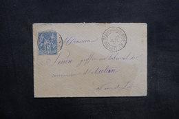 FRANCE - Enveloppe De St Germain Du Bois Pour Autun En 1891 , Affranchissement Sage - L 35340 - Marcophilie (Lettres)