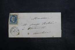 FRANCE - Enveloppe De St Germain Du Bois Pour Chalon / Saône En 1869 , Affranchissement Napoléon - L 35341 - Marcophilie (Lettres)