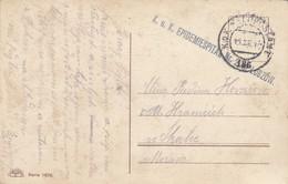 Ansichtskarte Krippe Mit Engel, KuK Epedemiespital Lubzow  - 1850-1918 Empire