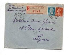 AFFRANCHISSEMENT COMPOSE SUR LETTRE RECOMMANDEE DE AIX LES BAINS 1932 - Marcophilie (Lettres)