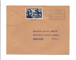 N° 1052 SUR LETTRE DE PERPIGNAN 1956 - 1961-....