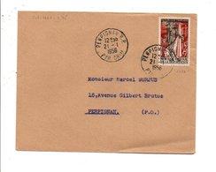 N° 1050 SUR LETTRE DE PERPIGNAN 1956 - 1961-....