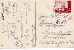 Croatia 1943 WWII NDH Postcard With Rare Postmark KRALJEVEC NA SUTLI - Croatia