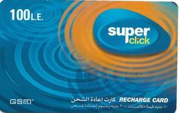 @+ Egypte - Super Click Blue - 100 LE - Egypte