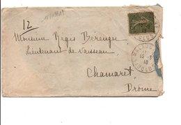 LETTRE DE MALAUCENE VAUCLUSE 1918 - Marcophilie (Lettres)