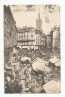 Cp , Commerce ,marché ,  87 ,  LIMOGES ,la Place Des BANCS ,dos Simple ,  Voyagée 1904 - Mercados