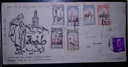 MOROCCO   MAROC TIMBRES  ENVELOPPE  FDC  COVER TANGER 1958 - Morocco (1956-...)