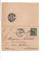 ENTIER  SEMEUSE DE POMMARD COTE D'OR 1905 - Marcophilie (Lettres)