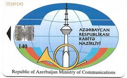 @+ Azerbaijan - Telecarte à Puce 140U - Puce SC7 - Ref : AZ-BTR-0007A - Azerbaïjan