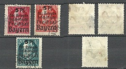 Deutsches Reich Bayern 1919 Michel 171 - 173, O READ! - Germany