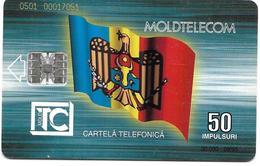 @+ Moldavie - Telecarte à Puce 50U - Puce SC7 - 30 000ex - 09/95 - Ref : MOL-M-05 - Moldavie