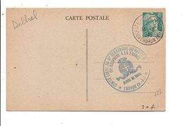 OBLITERATION 6 EME CENTENAIRE DU RATTACHEMENT DU DAUPHINE EMBRUN 1949 - Marcophilie (Lettres)