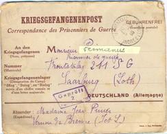 GUERRE 39-45 COR. PRISONNIERS DE GUERRE => FRONTSTALAG 211 SG / 2 SAARBURG Rédigé Le 5-12-1940 - Marcofilie (Brieven)