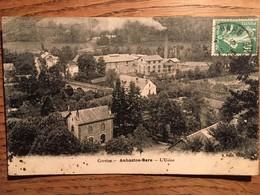 CPA AUBAZINE GARE - (CORREZE,19,) - L'USINE , écrite En 1923, Timbre - Francia