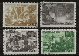 Russie 1947 N°Y.T. ; 1166A à 1169A Obl. - 1923-1991 USSR