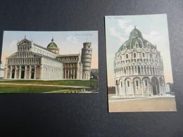 19959) PISA CATTEDRALE E BATTISTERO LOTTO DI DUE CARD NON VIAGGIATE - Pisa