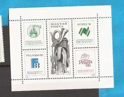 1988  UNGARN UNGHERIA  EXPOSITION PHILALELIQUE FINLANDIA 88    MNH - Ungheria