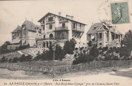 Rare Cpa La Baule Les Chalets Red-Roof-Blue-cottage Près De L'avenue St Clair - La Baule-Escoublac