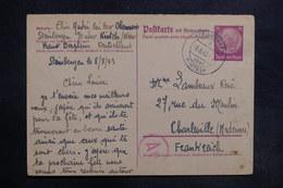 ALLEMAGNE - Entier Postal De Steinbergen Pour Charleville En 1943 Avec Contrôle Postal - L 35413 - Ganzsachen