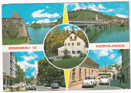 Kostajnica: ZASTAVA 600, 1100, FIAT 125S, OPEL COMMODORE A COUPÉ, CITROËN DS  - (Croatia, YU.) - Toerisme