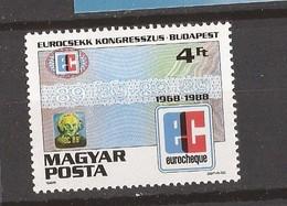 1988  UNGARN UNGHERIA  CONGRES DE L EUROCHEQUE BUDAPEST     MNH - Ungheria