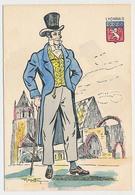 CPSM 10.5 X 15 Costume Folklorique LYONNAIS Homme Illustrateur Margotton - Illustrators & Photographers