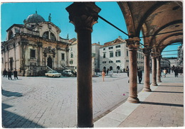 Dubrovnik: OPEL REKORD A, OPEL KAPITÄN '55 - Sponza Palace, St. Vlaha Church - (Croatia, YU.) - Toerisme