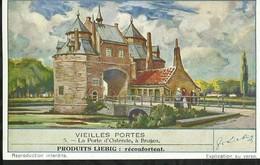 CHROMO LIEBIG . VIEILLES PORTES . LA PORTE D'OSTENDE , A BRUGES - Liebig