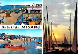 [MD3681] CPM - MISANO (RIMINI) - SALUTI DA - SPIAGGIA - Viaggiata 1966 - Rimini