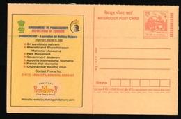 India  2004  Pondicherry Tourism Post Card   #  17730    Inde Indien - Postal Stationery