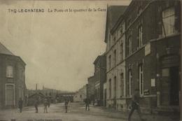 Thy Le Chateau (Walcourt) La Poste Et Le Quartier De La Gare (animee) Ca 1913 Ed Camille Louis-Guerin RARE - Walcourt