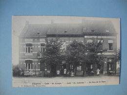 Edeghem - Café St. Joseph - Café St. Antoine - En Face De La Gare - 1908 - Edegem - Kontich -  Berchem - Wilrijk - Hove - Edegem