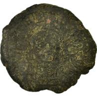 Monnaie, Justinien I, Demi-Follis, An 17 (543-544), Constantinople, TB, Cuivre - Byzantine