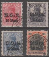 ROMANIA - 1917-18 Set Of Four German Occupation. Scott 3N4-7. Used - Besetzungen
