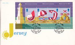 Jersey - Lettre De 1975 - Oblit Jersey Post Office - Tourisme - Phares - - Jersey