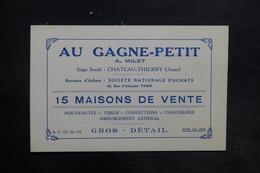 FRANCE - Carte Commerciale De Château Thierry - L 35457 - Old Paper