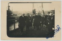 (Brest) Carte Photo. Lancement Du Duquesne. Préfet + Ministre De La Marine Georges Leygues. 15 Déc. 1925. - Brest