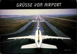 Cp Grüße Vom Airport, Passagierflugzeug, Startbahn - Aerei