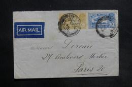 INDE - Enveloppe De Pondichéry Pour La France En 1930 Par Avion , Affranchissement Plaisant - L 35460 - India (...-1947)