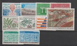 Andorre Français Année Complète 1984 Du 327 Au 336 10 Val. ** MNH - Volledige Jaargang