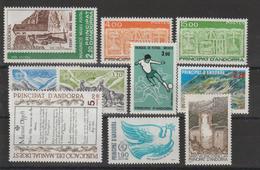 Andorre Français Année Complète 1986 Du 345 Au 354 10 Val. ** MNH - Años Completos